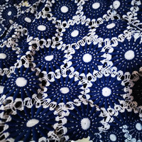 nigerian cord lace fabric White and Yellow lace applique fabric Blue and white Laces latest african laces 2018 patchwork fabrics