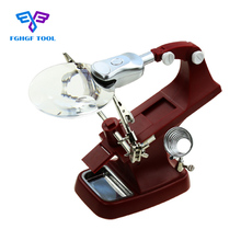 FGHGF 3X 4.5X Table Magnifier With LED Light Soldering glass Iron Station Clamp Magnifying Glasses Lupa Repair Tools
