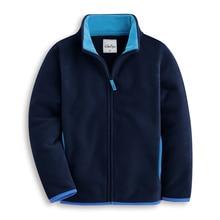2018 autumn children's clothes solid long sleeve fleece thin zipper cardigan boys jackets for boys girls kids outerwear coats