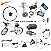 36 В 48 В 250 Вт 500 Вт электрический велосипед комплект для 20 26 700C колесо двигателя лягушка Батарея светодиодный ЖК дисплей Ebike e велосипед Элект