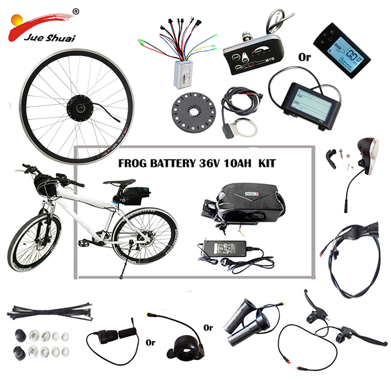 цена на 36V 48V 250W-500W Electric Bike Kit for 20 26 700C Wheel Motor Frog Battery LED LCD Ebike e bike Electric Bike Conversion Kit