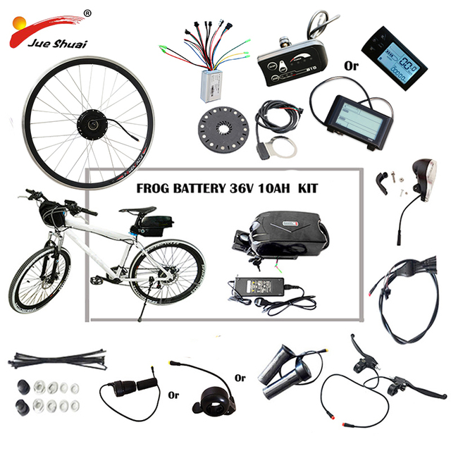 "36V 48V 250W-500W Electric Bike Kit for 20"" 26"" 700C Wheel Motor Frog Battery LED LCD Ebike e bike Electric Bike Conversion Kit"