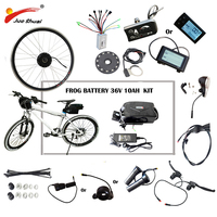 36V 48V 250W 500W Electric Bike Kit for 20 26 700C Wheel Motor Frog Battery LED LCD Ebike e bike Electric Bike Conversion Kit
