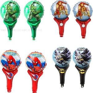 20 Stks/partij Hulk Party Ballonnen Nieuwe Stijl Hand Juichen Ironman Folie Ballonnen Kid Speelgoed Inflat Air Batman Spiderman Ballon