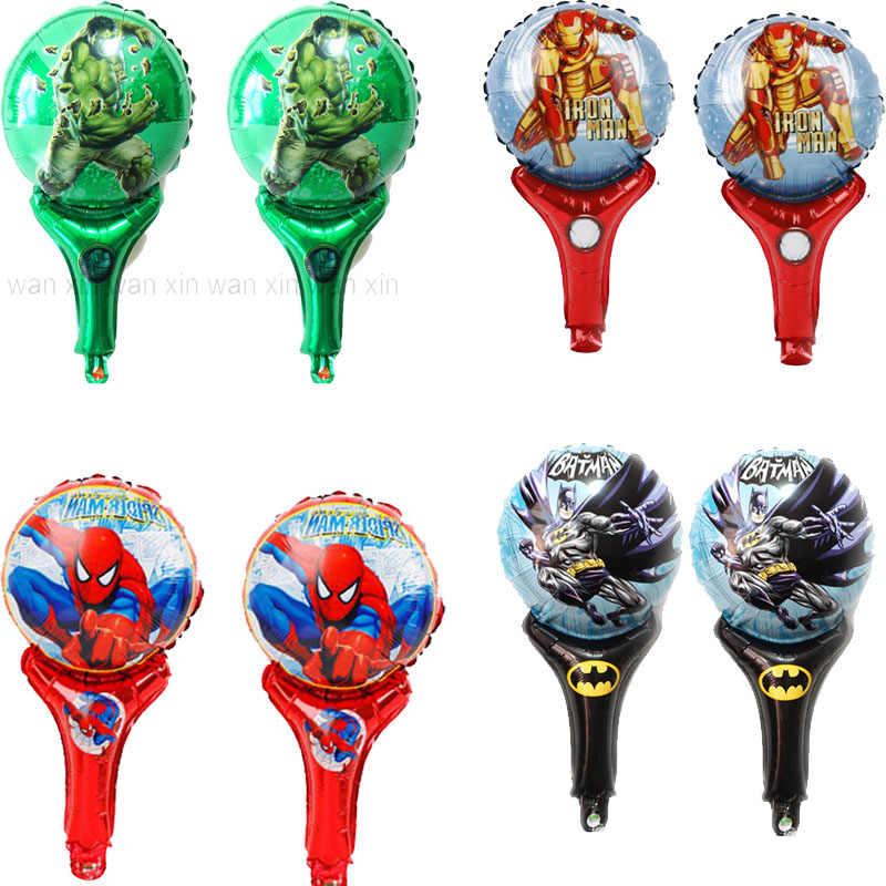 20 teile/los hulk luftballons neue stil hand jubeln ironman folie luftballons kid spielzeug inflat air batman spiderman ballon