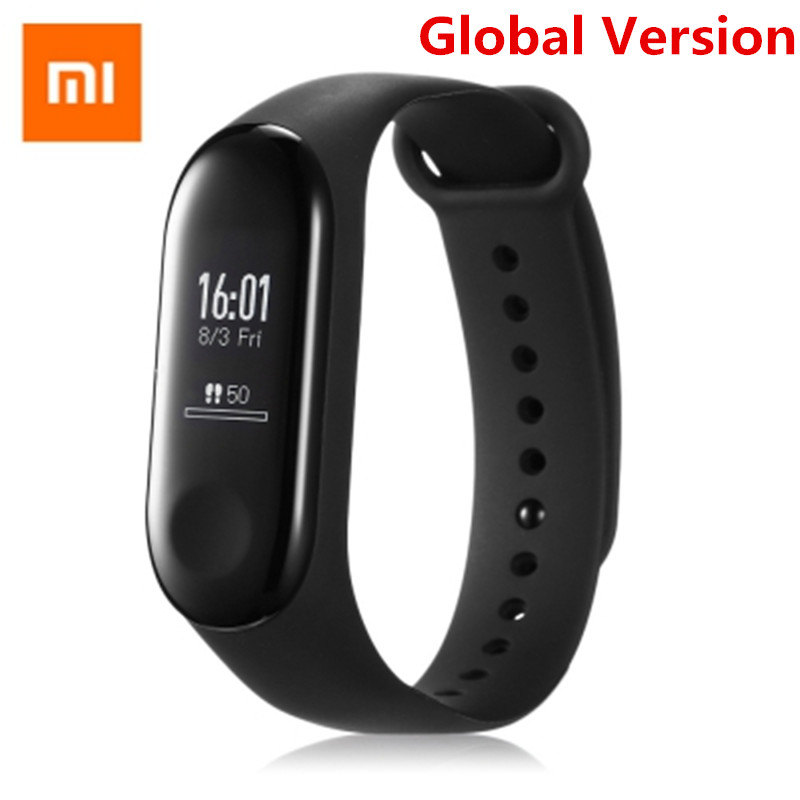 Globale Versione Xiao mi mi fascia 3 Smart tracker Monitoraggio Della Frequenza cardiaca Della Vigilanza Di Sport wristband 20 Giorni in Standby