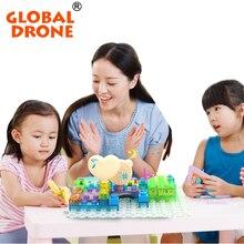 Globl Drone Elestronic Building Blocks Creative Plastic DIY Science Educatioal Blocks Kids Toys