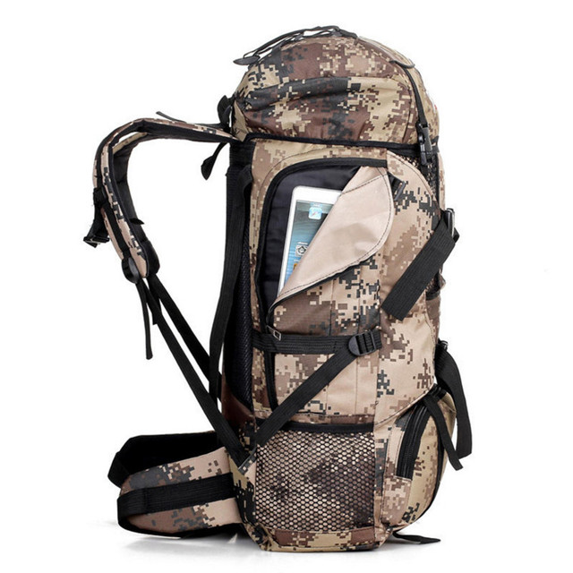 70L Men Military Backpack Large Capacity Camouflage Bag Women Mountaineering Backpack Waterproof Travel Bag