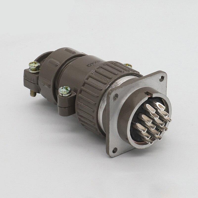 1 zestaw P32 lotnictwa okrągłe złącze męskie i żeńskie gniazdo wtykowe okrągłe złącze 8/10/12/14 Pin średnica 32MM w Złącza od Lampy i oświetlenie na title=