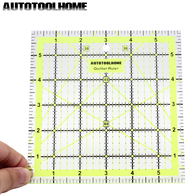 6*6 inch Quilting Ruler for Arts Crafts Sewing Needle Sewing Tools Accessory Patchwork Ruler