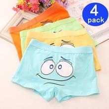 4Pcs/Lot Childrens Cartoon Boxer Kids children Underwear Boys Cotton Shorts Student Panties Suit 2-10 Years child thong