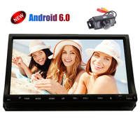 16GB ROM Car Stereo In Dash Android 6.0 Quad core 3D GPS Navi Radio DVD CD Player 7'' Capacitive Sliding Screen WiFi 4G/3G+Cam