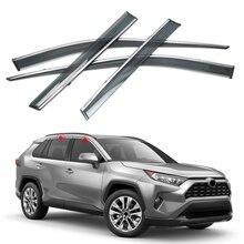 цена на 2019 2020 for Toyota RAV4 XA50 Plastic Car Styling Accessories Car Window Visor Vent Shade Rain/Sun/Wind Guard Trim 4pcs