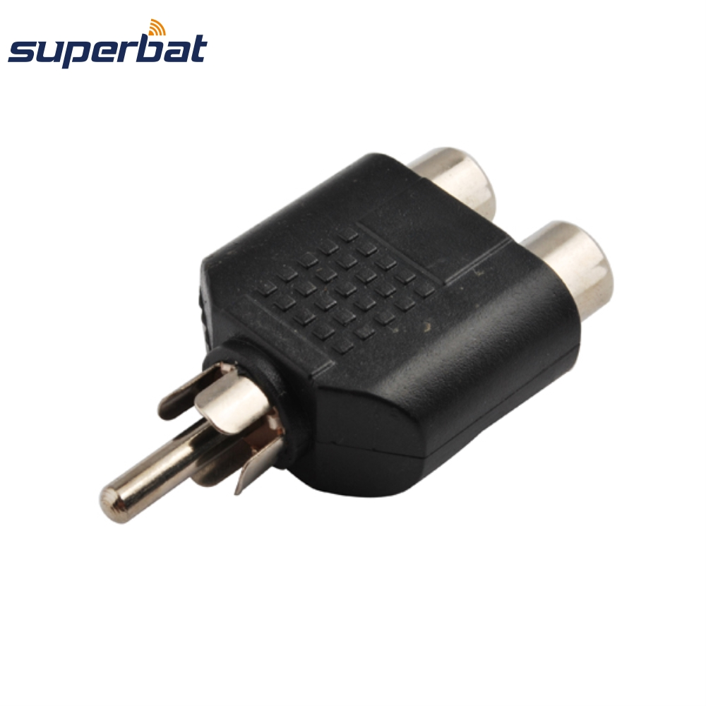 ✓Superbat RF adapter RCA Male Plug to two Female Jack Y Type ...