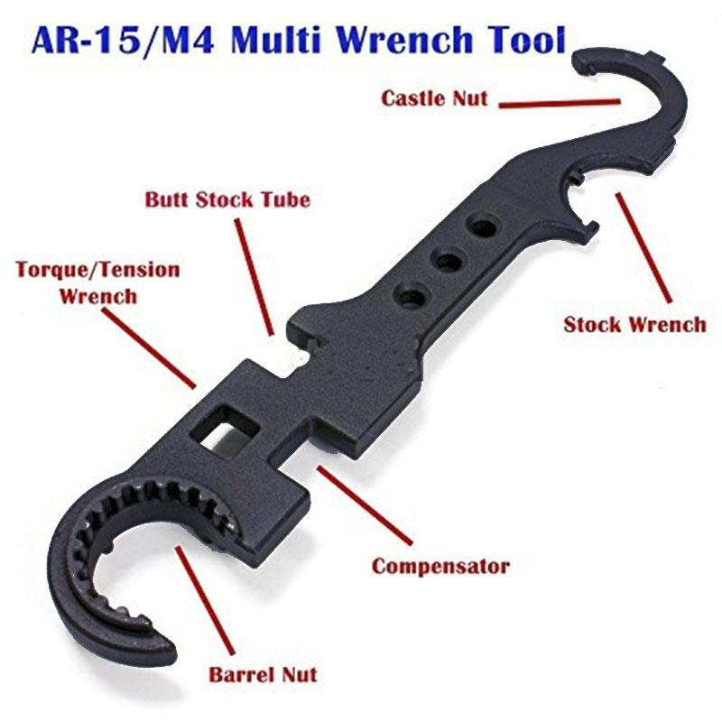 Full Steel Metal AR15 / M4 Tool Wrench Wrench Y36 - A Field Multi-purpose Wrench Steel Ar