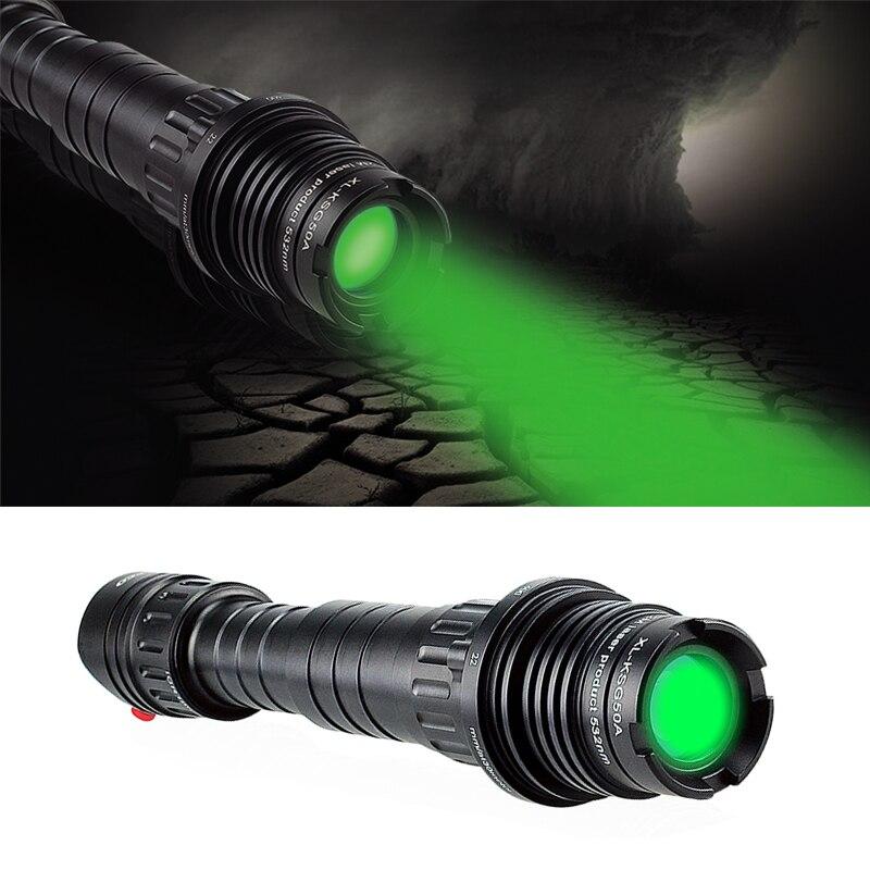 גבוהה כוח לייזר הפנס zoomable התמקדות מתכוונן 100mw ירוק לייזר פנס עבור ציד הגנה עצמית לייזר designator