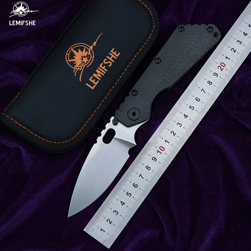 LEMIFSHE SMF folding knife D2 blade TC4 titanium CF handle copper washing machine outdoor camping utility fruit knife EDC toolLEMIFSHE SMF folding knife D2 blade TC4 titanium CF handle copper washing machine outdoor camping utility fruit knife EDC tool