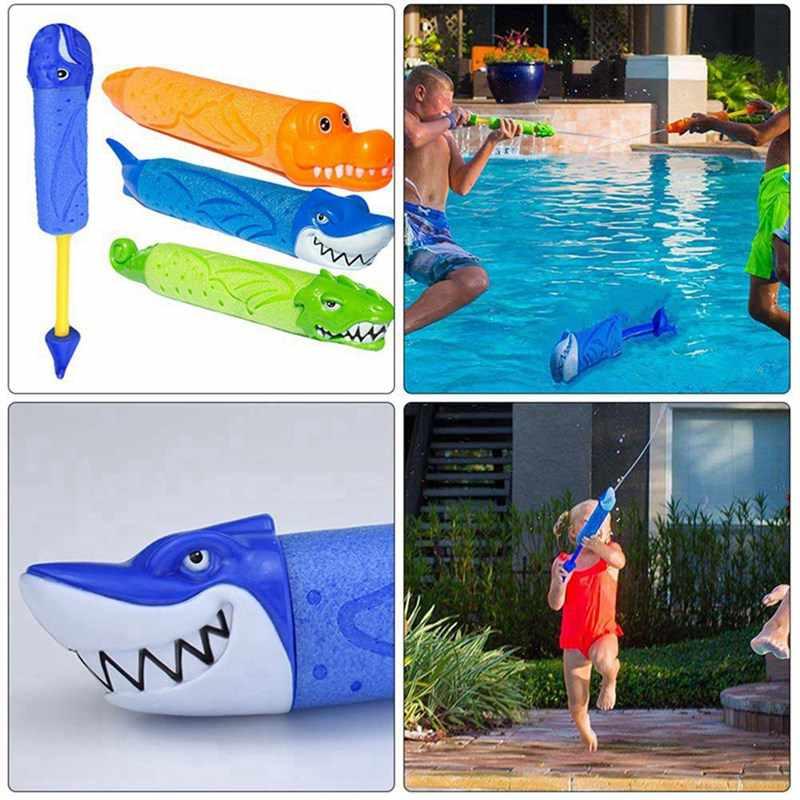 33 см летняя водяная пушка игрушки пистолет Blaster Shooter открытый плавательный бассейн мультфильм Акула Крокодил Игрушки Для сквирта для детей