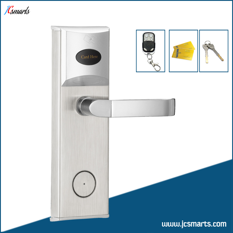 Apartment Intelligent door lock with remote controller M1 card Mechanical Keys unlock the apartment