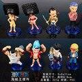 Бесплатная Доставка 8 шт. Аниме One Piece Фрэнки Семьи 68-й Сплошной Набор В Штучной Упаковке ПВХ Фигурку Коллекция Модель Игрушки (8 шт. за комплект)