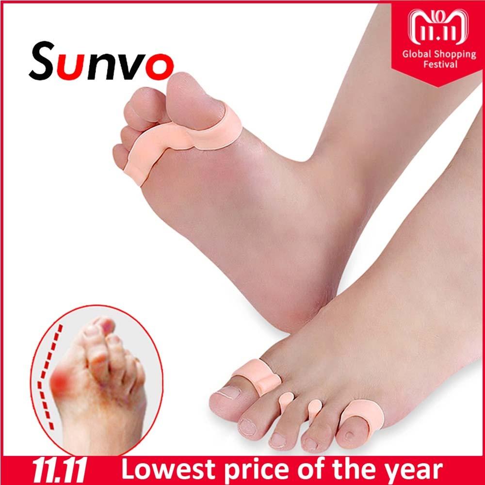 Sunvo Hallux Valgus Orthotics Bunion Splint for Separate All Toe Big Bone Orthopedic Foot Hammer Corrector Separator Inserts Pad цена