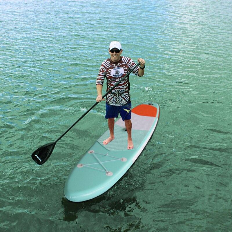 Premium Gonflable stand up paddle Board (6 Pouces D'épaisseur) avec SUP Accessoires & sac de transport | Large Position, fond Fin pour Paddlin