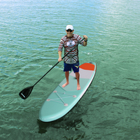 Premium Inflatable Stand Up Paddle Board (6 Inches Thick) with SUP Accessories & Carry Bag   Wide Stance  Bottom Fin for Paddlin Surfing     -