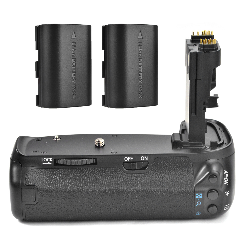 Meike MK-70D Vertical  Battery Grip Handy Pack for Canon EOS 70D 80D Camera BG-E14 DSLR + 2x Rechargeable Battery as LP-E6 meike mk 5d4 vertical battery grip for canon eos 5d mark iv as bg e20 compatible camera works with lp e6 or lp e6n battery