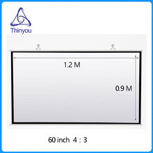 Wholesale Thinyou 60 inches 4:3 wall Projection Screen Matt White pantalla proyeccion for LED LCD HD Movie Projector Screens