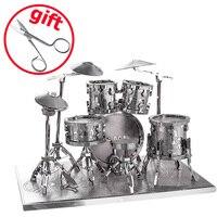 Drum Set P032S Toys 3D Puzzle DIY Piececool Metal Models Puzzle 3D Metal Models Brinquedos Kids