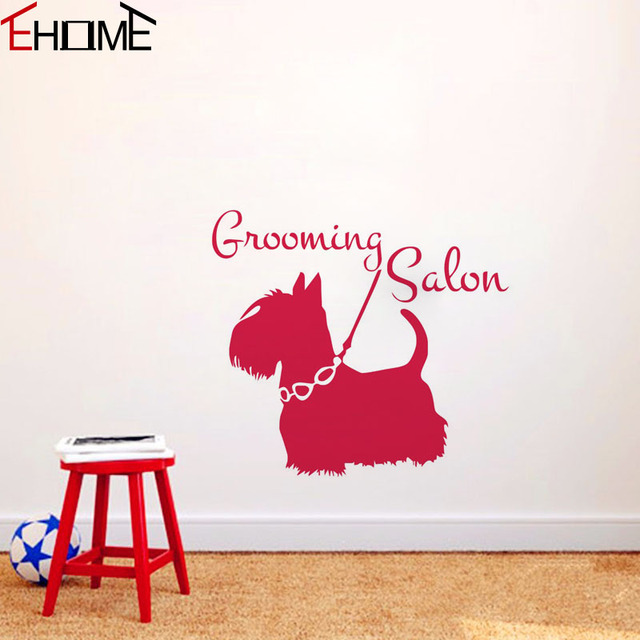 Aliexpresscom  Buy EHOME Grooming Salon Dogs Wall Stickers Home - Vinyl wall decals animals