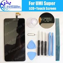 Umi Súper Pantalla LCD + Pantalla Táctil 100% Original LCD Digitalizador Reemplazo de Cristal Del Panel Para Umi Súper F-550028X2N-C