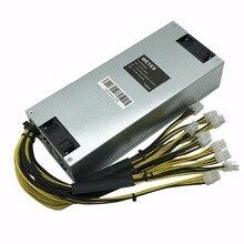 Оригинальный bitmain 1800 Вт источника питания 6PIN * 10 Antminer APW3 + +-12-1600, ETH PSU, antminer S9 S7 L3 btc ltc тире Шахтер питания