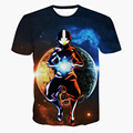 New Arrive Men Women Summer Casual tee shirts Fashion Cartoon Avatar t shirts Hipster 3D t shirt Street Hip Hop tshirts tops