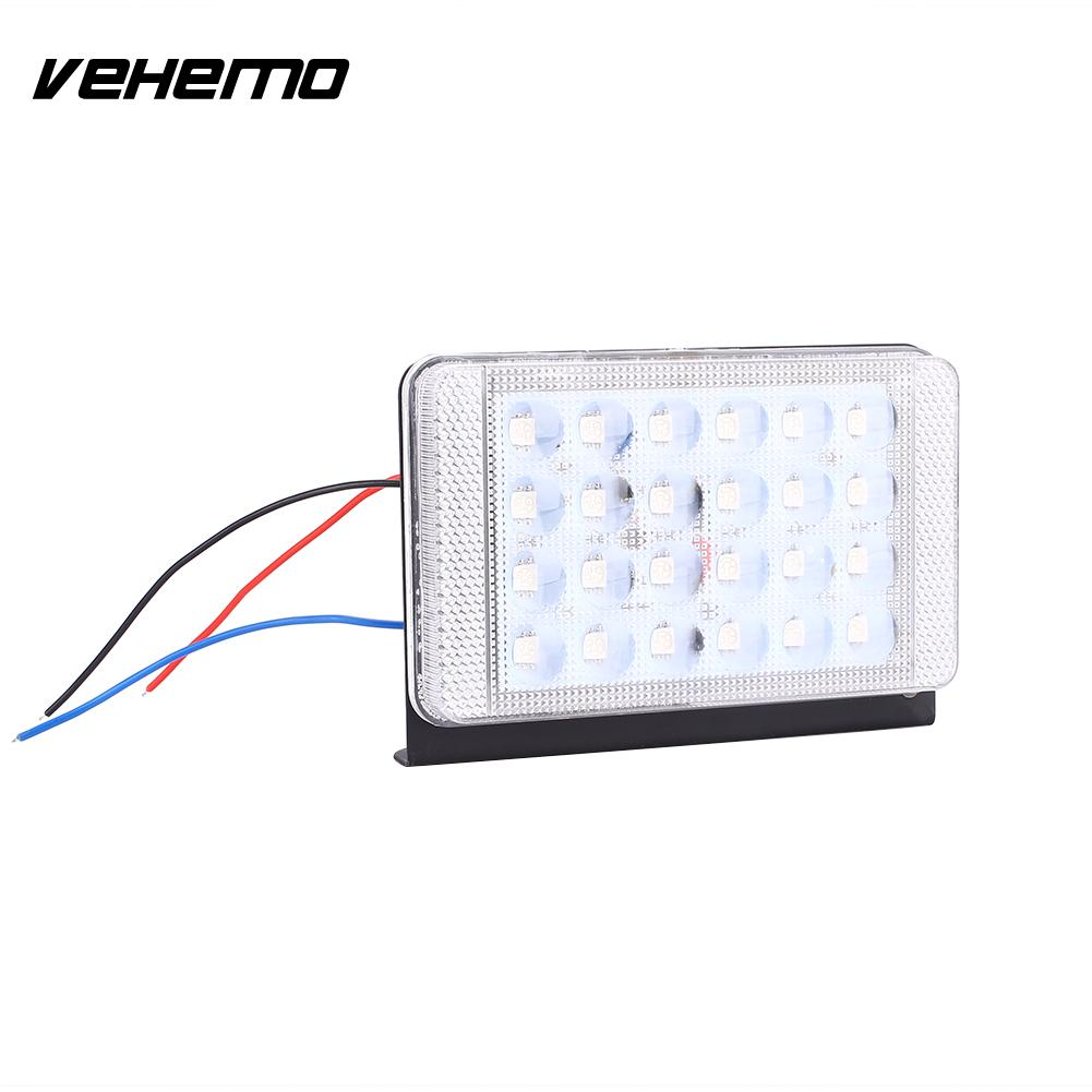 Vehemo 103106 2Pcs/Set 12V 24V Car Vehicle Tail Side LED Strobe Lamp Warning Universal