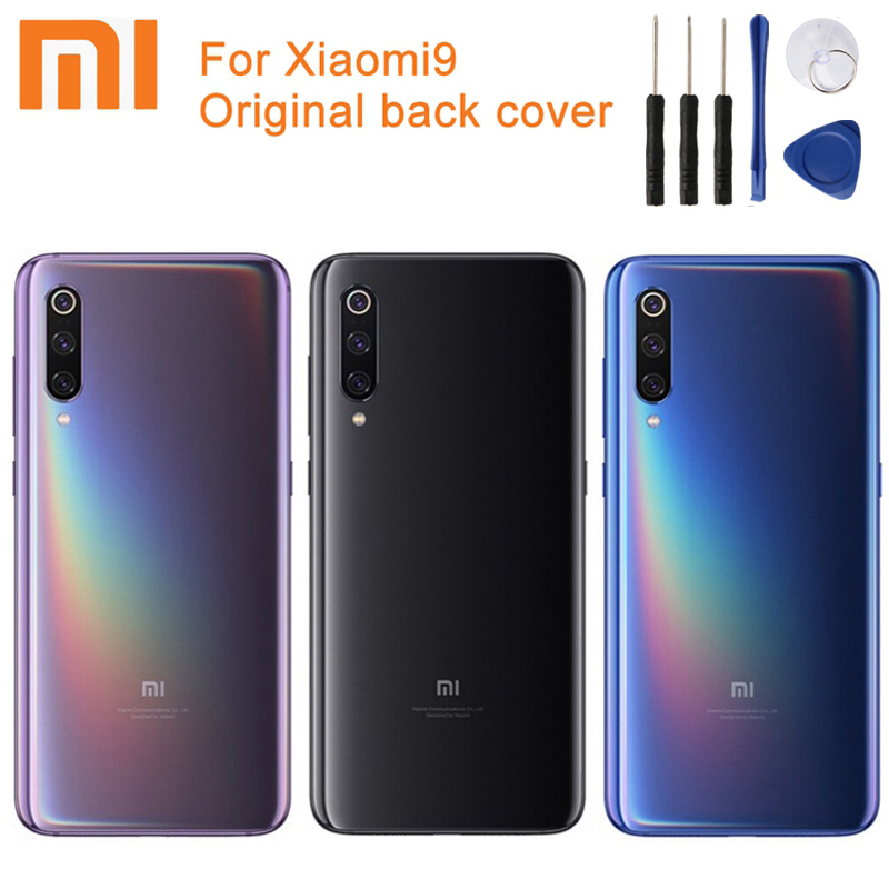 Xiaomi Rear-Case Battery Back-Cover Glass Mi-9 Original for Backshell--Tool