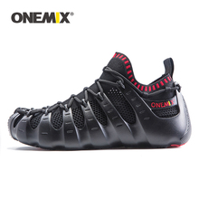купить Onemix Rome shoes gladiator set shoes men & women running shoes jogging sneakers outdoor walking shoes sock-like sneakers  по цене 5209.84 рублей