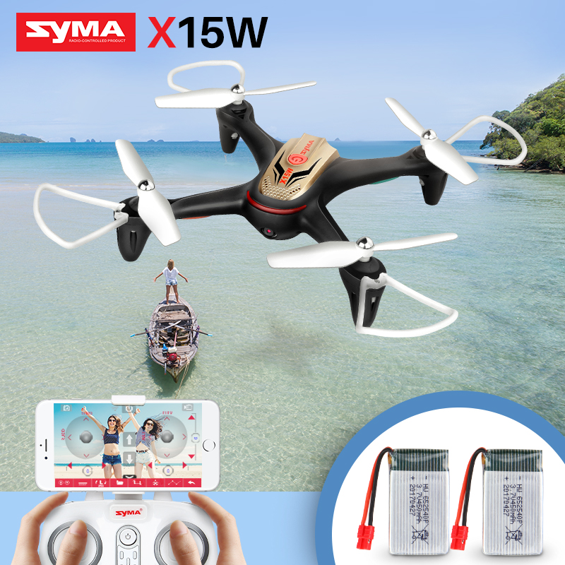 Syma X15W Drone WiFi FPV With Camera Altitude Hold 3D Flips RC Drone Quadcopter RTF Smart phone Controlled Remote Aircraft Black