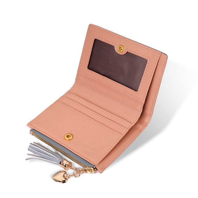 Purse Leather Long Zip Wallet
