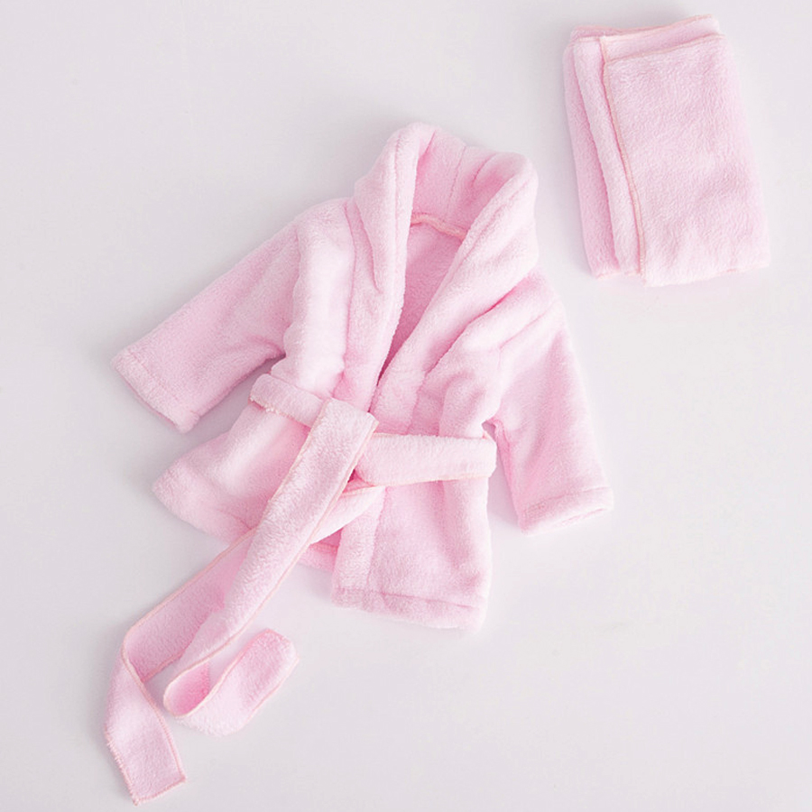 Baby Towel Bathrobe Washcloth-Set Flannel-Material Infant 0-6M Photography-Props Made