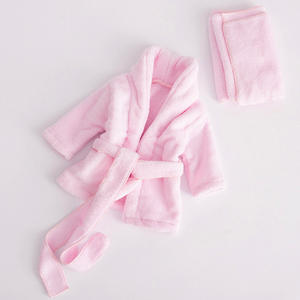 Baby Towel Bathrobe Washcloth-Set Photography-Props Infant Made 0-6M Flannel-Material