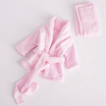 Super miękka flanela materiał wykonany ręcznik dla niemowląt myjka dziecięca zestaw ręcznik kąpielowy dla niemowląt fotografowania noworodków rekwizyty szlafrok w wieku 0-6M tanie tanio Tkanina z mikrofibry 0-3 miesięcy 4-6 miesięcy Stałe Zestaw ręczników ROLL BCS+001 Baby Washcloth Set Super soft flannel