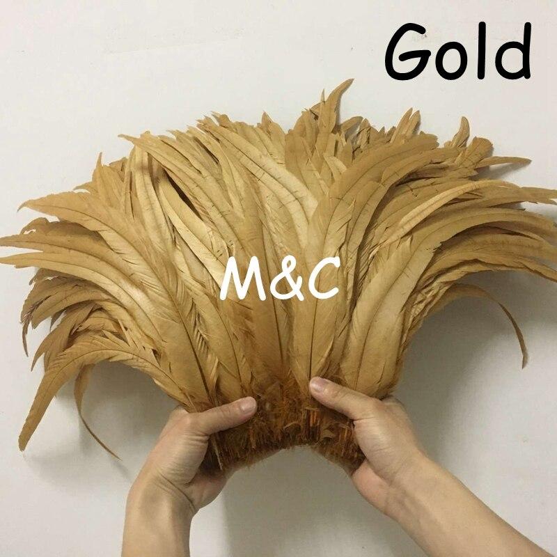 30-35 cm 12-14 polegada ouro galo cauda