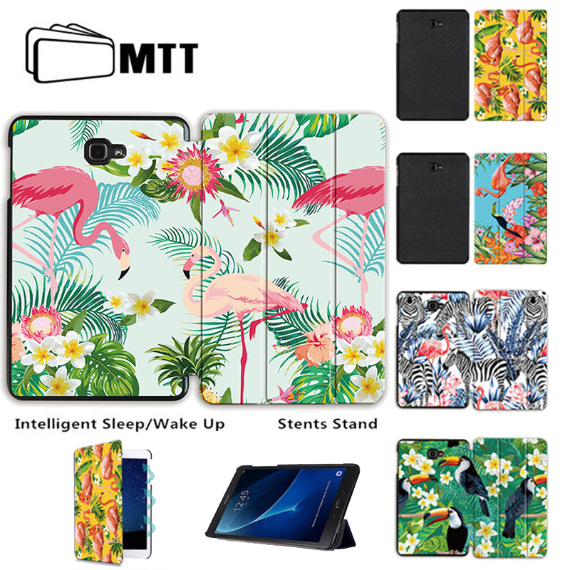 MTT Print Flamingo For Samsung Galaxy Tab A A6 10.1 2016 T580 T585 T580N T585N SM-T580/T585 Tablet Case Flip Stand Leather Cover