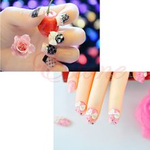 60Pcs 3D Glitters Bow Tie Rhinestone Nail Art Stickers Decoration Tips 12 Colors(China)