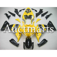 Complete ABS Plastic Injection Fairing For Yamaha R1 2009 2010 2011 Year YZF1000 09 10 11 Yellow Matte Black Motorcycle Cowlings