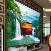 Custom Large Scale Murals Water Health And Finance 3d Background Wall Non Woven Environmental Wallpaper Papel