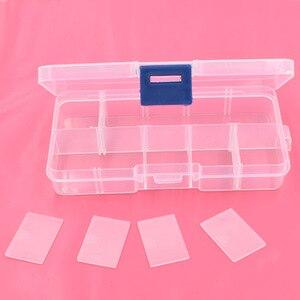 Image 3 - 5pcs 단추 eyelets 저장 조정 가능한 플라스틱 10/15 구획 저장 상자 보석 귀걸이 상자 상자 저장 상자