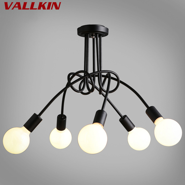 Modern Pendant Lights Creative Simple Ceiling Lamp Living Room Nordic Restaurant Bedroom Wrought Iron Curved Tube Ceiling Lamp