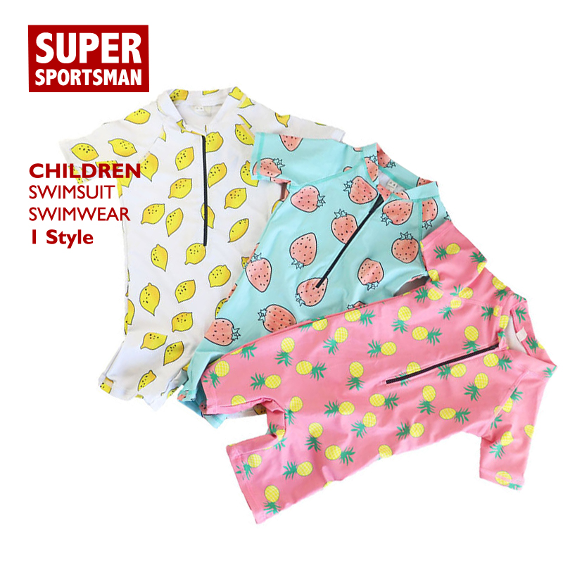 <font><b>Baby</b></font> Mädchen Anti-<font><b>Uv</b></font> Bademode Kinder Cartoon Badeanzug + hut Kinder Schwimmen Beachwear-badeanzug Kleinkind Schwimmen Surfen Set image